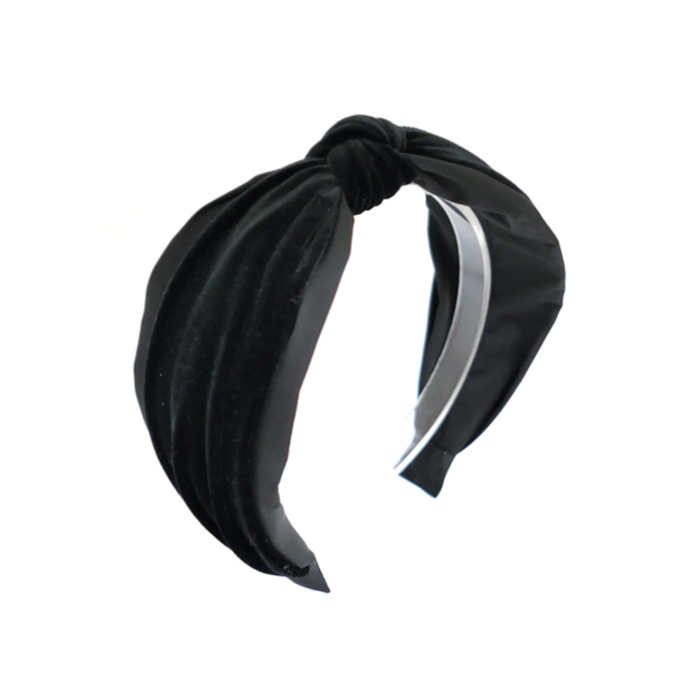 simple velvet hairband (black)