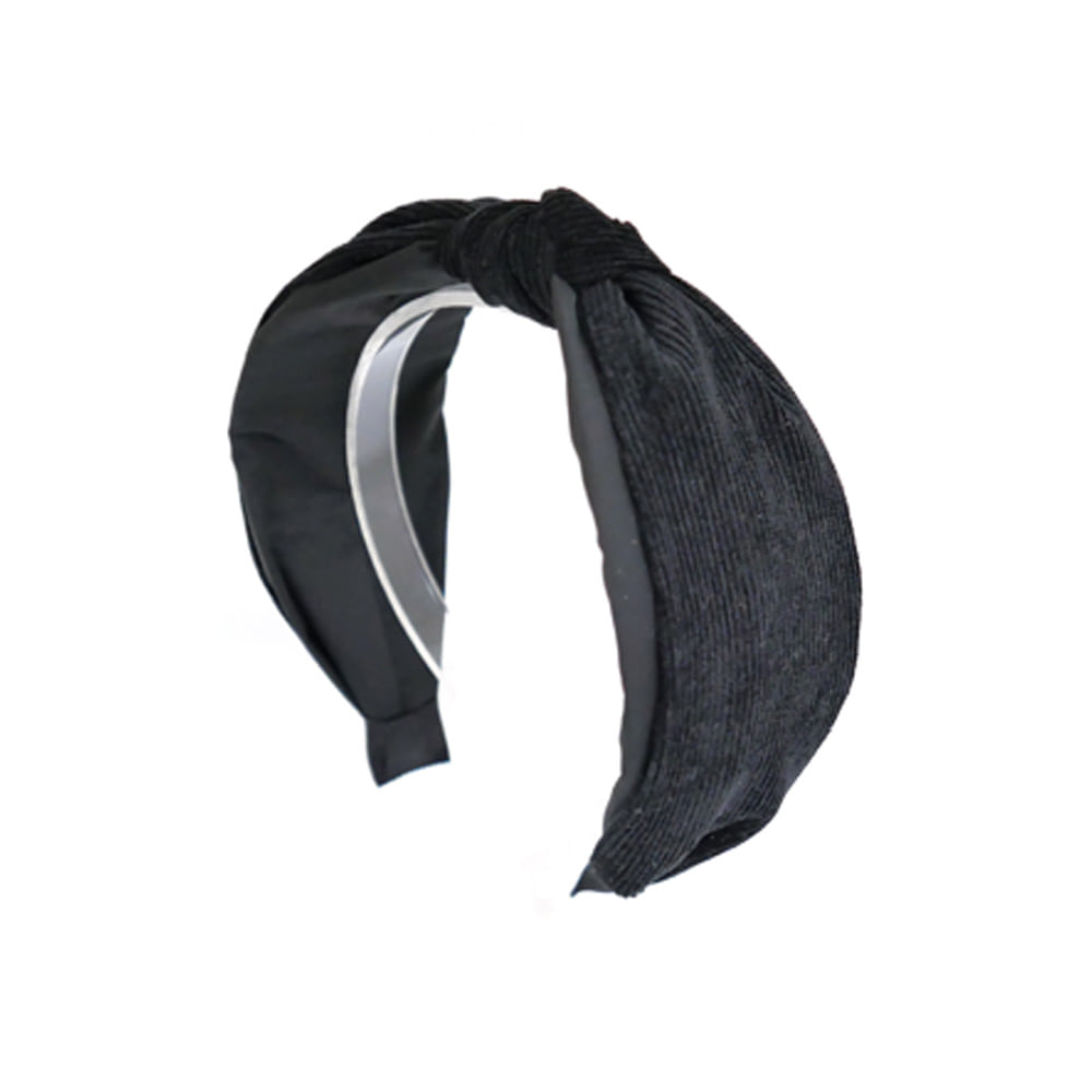 simple corduroy hairband (black)