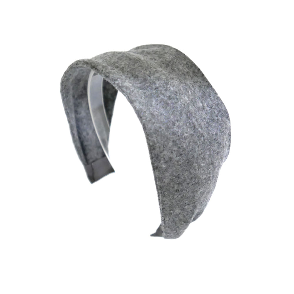 wool simple hairband (gray)